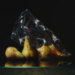 """Pears in Plastic"" Wins in Trompe l'oeil Category at Art Renewal Center"