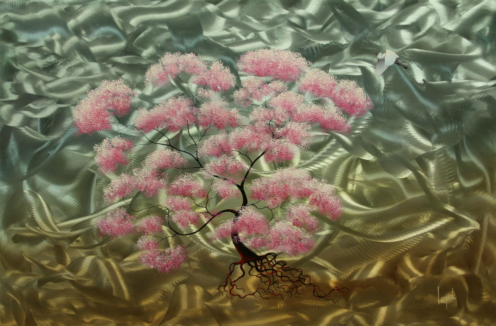Promise of Spring Fine Art Metal Painting by Dario Campanile